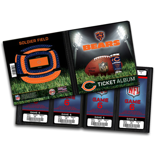 That's My Ticket - National Football League Collection - 8 x 8 Ticket Album - Chicago Bears