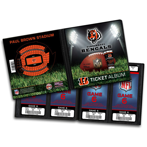That's My Ticket - National Football League Collection - 8 x 8 Ticket Album - Cincinnati Bengals