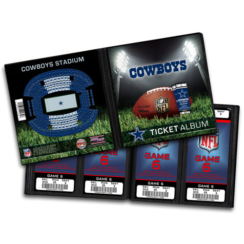 That's My Ticket - National Football League Collection - 8 x 8 Ticket Album - Dallas Cowboys