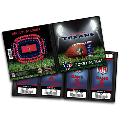 That's My Ticket - National Football League Collection - 8 x 8 Ticket Album - Houston Texans