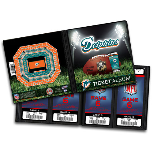 That's My Ticket - National Football League Collection - Ticket Album - Miami Dolphins
