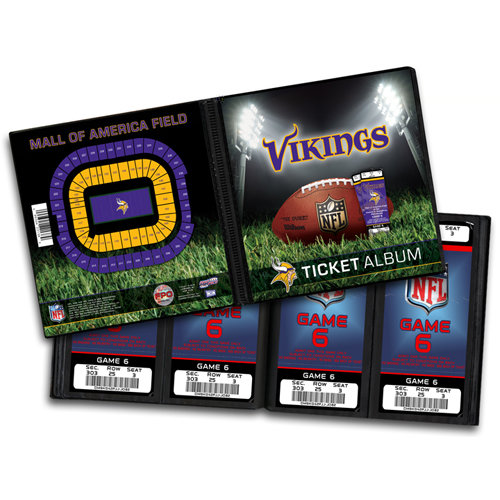 That's My Ticket - National Football League Collection - Ticket Album - Minnesota Vikings