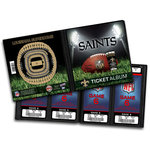 That's My Ticket - National Football League Collection - 8 x 8 Ticket Album - New Orleans Saints