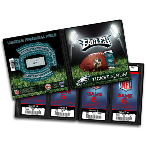That's My Ticket - National Football League Collection - 8 x 8 Ticket Album - Philadelphia Eagles