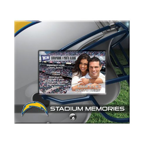 That's My Ticket - National Football League Collection - 8 x 8 Postbound Scrapbook and Photo Album - San Diego Chargers