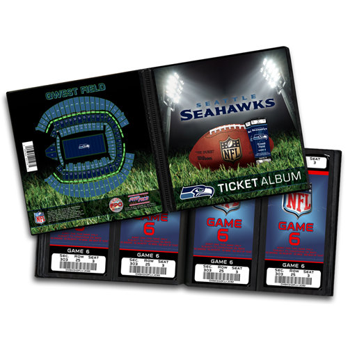 That's My Ticket - National Football League Collection - 8 x 8 Ticket Album - Seattle Seahawks