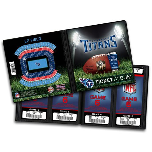 That's My Ticket - National Football League Collection - 8 x 8 Ticket Album - Tennessee Titans
