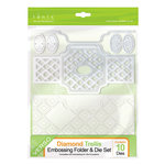 Tonic Studios - Idyllics Embossing Folder and Dies Set - Diamond Trellis