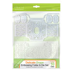 Tonic Studios - Idyllics Embossing Folder and Dies Set - Delicate Drape