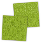 Ten Seconds Studio - Big Daddy Collection - Decorative Embossing Mold - Gears and Four Square, CLEARANCE
