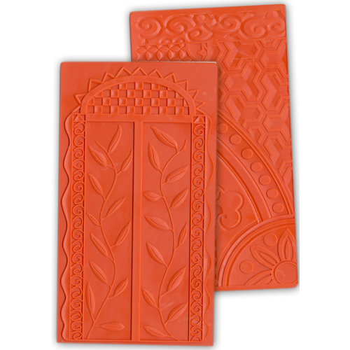 Ten Seconds Studio - Kabuka Collection - Decorative Embossing Mold - Shrine and Collage