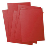 Ten Seconds Studio - 9 x 12 Thin Metal Sheets for Dry Embossing - 25 Pack - Barn Red, CLEARANCE