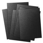 Ten Seconds Studio - 9 x 12 Thin Metal Sheets for Dry Embossing - 4 Pack - Black and Dark Chocolate