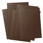 Ten Seconds Studio - 9 x 12 Thin Metal Sheets for Dry Embossing - 4 Pack - Slate, Mocha, Rum and Plum