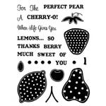 Technique Tuesday - Clear Acrylic Stamps - A Little Fruity
