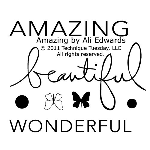 Technique Tuesday - Clear Acrylic Stamps - Amazing by Ali Edwards