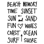Technique Tuesday - Clear Acrylic Stamps - Beach Time by Ali Edwards