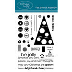 Technique Tuesday - Clear Acrylic Stamps - Christmas - Be Jolly