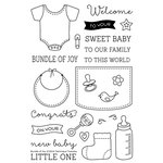Technique Tuesday - Clear Acrylic Stamps - Bundle of Joy