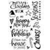 Technique Tuesday - Clear Acrylic Stamps - Christmas Cheer