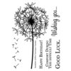 Technique Tuesday - Clear Acrylic Stamps - Dandelion
