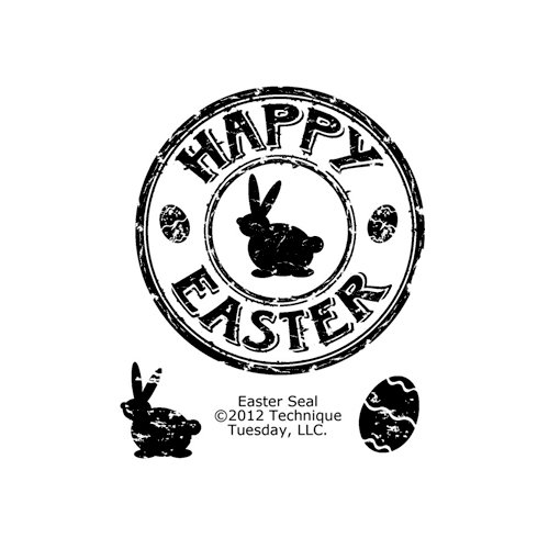 Technique Tuesdau - Clear Acrylic Stamps - Easter Seal