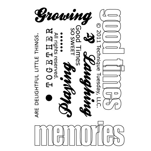 Technique Tuesday - Clear Acrylic Stamps - Good Times