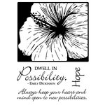 Technique Tuesday - Clear Acrylic Stamps - Hopeful Hibiscus