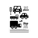Technique Tuesday - Clear Acrylic Stamps - Happyville - Cars
