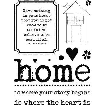 Technique Tuesday - Background and Image - Clear Acrylic Stamps - Home is Where the Heart Is