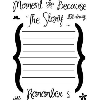 Technique Tuesday - Storytellers Journaling - Clear Acrylic Stamps - Remember the Moments, CLEARANCE