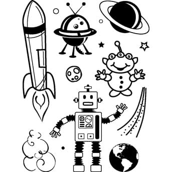 Technique Tuesday - Clear Stamps - Rocket Man