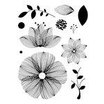Technique Tuesday - Clear Acrylic Stamps - Spiro Garden