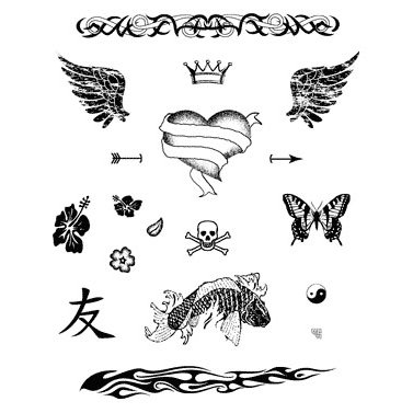 Technique Tuesday - Clear Stamps - Skin Deep - Tattoos, CLEARANCE