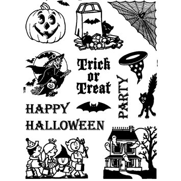 Technique Tuesday - Background and Image - Clear Acrylic Stamps - Trick or Treat, CLEARANCE
