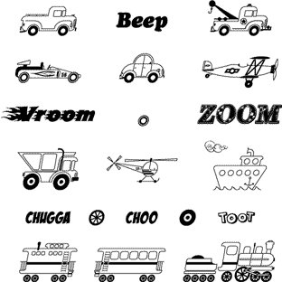 Technique Tuesday - Clear Stamps - Vroom, CLEARANCE