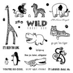 Technique Tuesday - Clear Stamps - Zoology, CLEARANCE