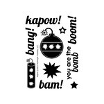 Technique Tuesday - Clear Acrylic Stamps - Kapow