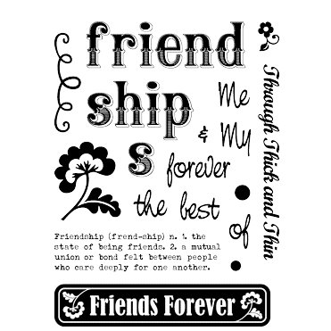 Technique Tuesday - Clear Acrylic Stamps - Friends Forever