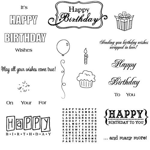 Technique Tuesday - Clear Acrylic Stamps - Happy Birthday