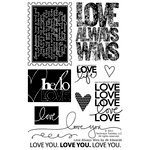 Technique Tuesday - Clear Acrylic Stamps - Love Always Wins by Ali Edwards