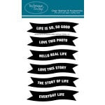 Technique Tuesday - Clear Acrylic Stamps - Life Banners by Ali Edwards
