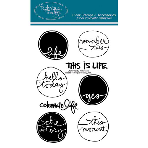 Technique Tuesday - Clear Acrylic Stamps - Life Circles by Ali Edwards
