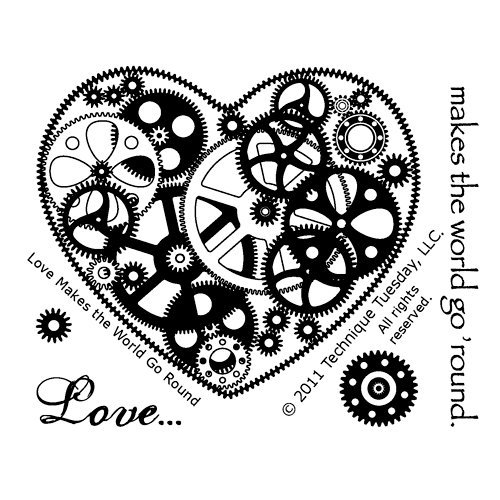 Technique Tuesday - Clear Acrylic Stamps - Love Makes the World Go Round