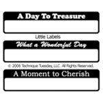Technique Tuesday - Little Treasures - Clear Acrylic Stamps - Little Labels, CLEARANCE