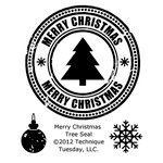 Technique Tuesday - Clear Acrylic Stamps - Merry Christmas Tree Seal