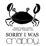 Technique Tuesday - Clear Acrylic Stamps - Mister Crabby