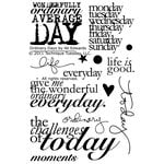 Technique Tuesday - Clear Acrylic Stamps - Ordinary Days by Ali Edwards