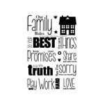 Technique Tuesday - Clear Acrylic Stamps - Our Family Rules