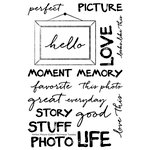 Technique Tuesday - Clear Acrylic Stamps - Perfect Picture